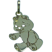 Vintage 14K Yellow Gold Teddy Bear Charm/Pendant