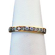 14k Yellow Gold Thirteen Diamond Band