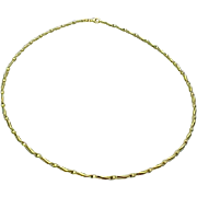 "14K Yellow Gold Twisted Flexible 18"" Necklace 2mm"