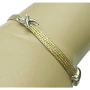 14K Two Tone Gold Kisses Bracelet