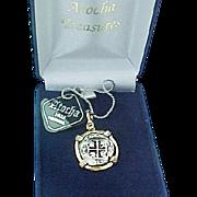 Sterling Silver Gold Vermeil Atocha 8 Reales Spanish Galleon Sunken Treasure / Shipwreck Coin Pendant/With Box & COA