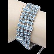 Estate 1950's WEISS Blue Rhinestone Bracelet