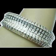 Vintage Sterling Silver High Polished WIDE Bracelet