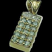 14K Yellow Gold Alexandrite & Diamond Pendant