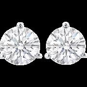 14K White Gold (1/2) Carat Diamond Screw Back Studs