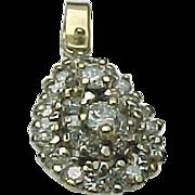 14K Yellow Gold .50 Carat Diamond Cluster Pendant