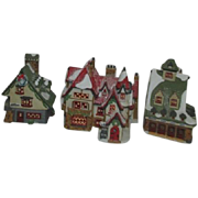 3 Dept 56 Heritage Village Collection North Pole Series Buildings 1990