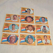 Vintage 1960 Topps Baseball Cards Rookie Star Set of 10