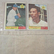 Vintage Topps 1961 Rookie Cards Set of  2