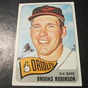 Vintage 1965 Topps Baseball Card Brooks Robinson