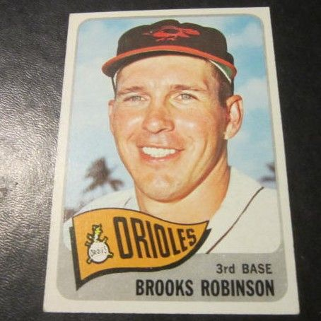 Vintage 1965 Topps Baseball Card Brooks Robinson