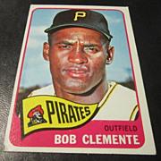 Vintage 1965 Topps Baseball Card Bob Clemente