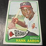 Vintage 1965 Topps Baseball Card Hank Aaron