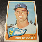 Vintage 1965 Topps Baseball Card Don Drysdale