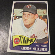 Vintage 1965 Topps Baseball Card Harmon Killebrew