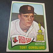 Vintage 1965 Topps Baseball Card Tony Conigliaro