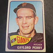 Vintage 1965 Topps Baseball Card Gaylord Perry