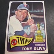 Vintage 1965 Topps Baseball Card Tony Oliva