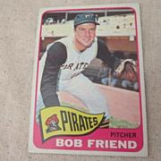 Vintage 1965 Topps Baseball Card Bob Friend