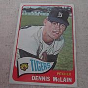 Vintage 1965 Topps Baseball Card Dennis McLain