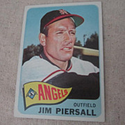 Vintage 1965 Topps Baseball Card Jim Piersall
