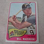 Vintage 1965 Topps Baseball Card Bill Mazeroski