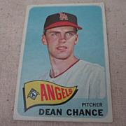 Vintage 1965 Topps Baseball Card Dean Chance
