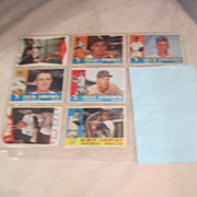 Vintage 1960 Topps  Baseball Cards Set of 7