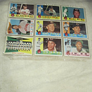 Vintage 1960 Topps Baseball Cards Set of 9 Cleveland Indians