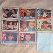 Vintage 1960 Topps Baseball Cards Set of 8 Baltimore Orioles
