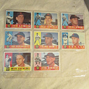 Vintage 1960 Topps Baseball Cards Set of 8 Washington Senators
