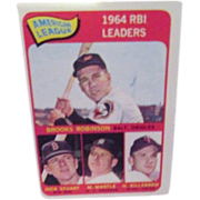 Topps Card #5 1964 RBI Leaders