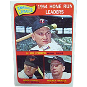 Topps Card #3 1965 Baseball Card American League Home Run Leaders