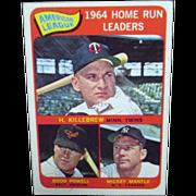Topps Card #3 1965 Baseball Card American League Home Run Leaders
