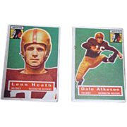 Two 1956 Topps Football Cards Washington Redskins
