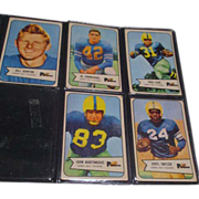 Set of 5 Bowman 1954 Football Cards Greenbay Packers