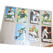 Set of Seven 1954 Bowman Football Cards Philadelphia Eagles