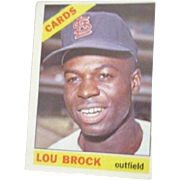 Lou Brock St. Louis Cardinals 1966 Baseball Card