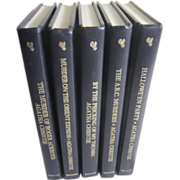 Set of 5 Leather Bound Agatha Christie Books