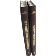 Two Hard Back Leather Bound Books by Louis L'Amour