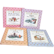 Set of Four Winnie The Pooh Pop-Up Books in Original Carry Box