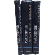 Set of 3 Hemingway Books Farewell to Arms, For Whom the Bell Tolls, Sun Also Rises