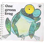 One Green Frog Children's Poke and Look Book