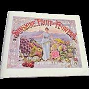 Sunshine Fruit and Flowers Santa Clara County, California in 1896