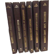 Set of 6 Louis L'Amour Leather Bound Books with Gold Trim