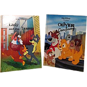 Disney Dog and Cat Two Book Set Lady and the Tramp and Oliver & Company