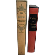 Two Boxed Books by Dostoevsky  Crime & Punishment The Brothers Karamazov