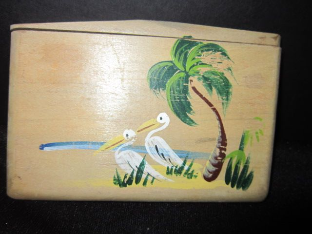 Vintage Wood Cigarette Case