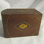 Vintage Japanese Wood Cigarette Box
