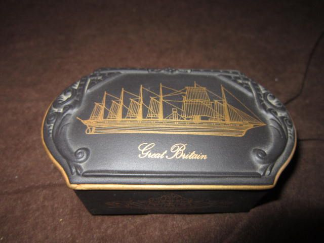 "Small Porcelain Box from the Great British Ship Collection, ""The Great Britain"""